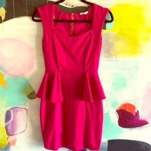 Dresses & Skirts - Fuschia Peplum Dress